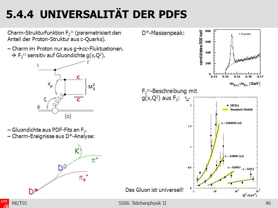 5.4.4 UNIVERSALITÄT DER PDFS