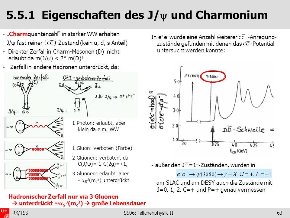 5.5.1 Eigenschaften des J/ und Charmonium