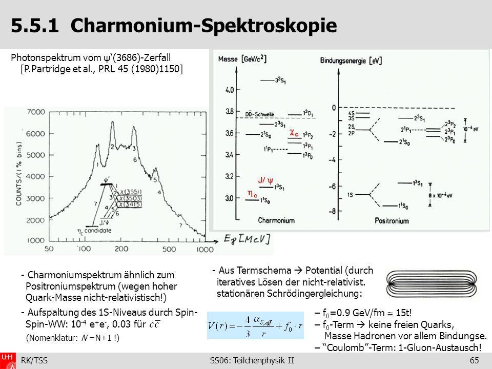 5.5.1 Charmonium-Spektroskopie