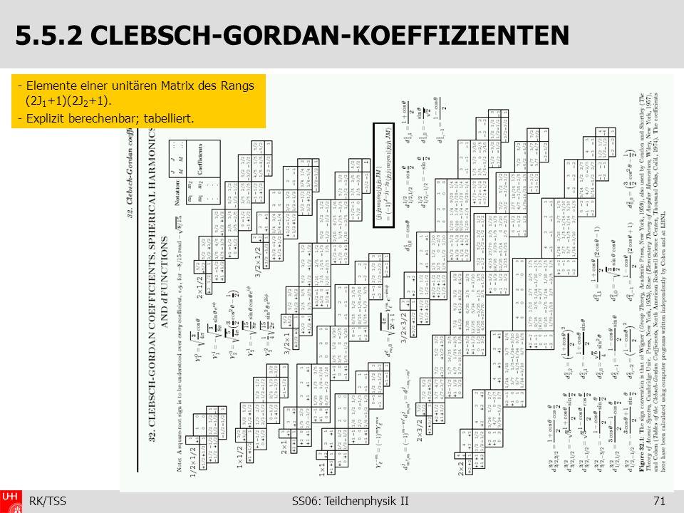 5.5.2 CLEBSCH-GORDAN-KOEFFIZIENTEN