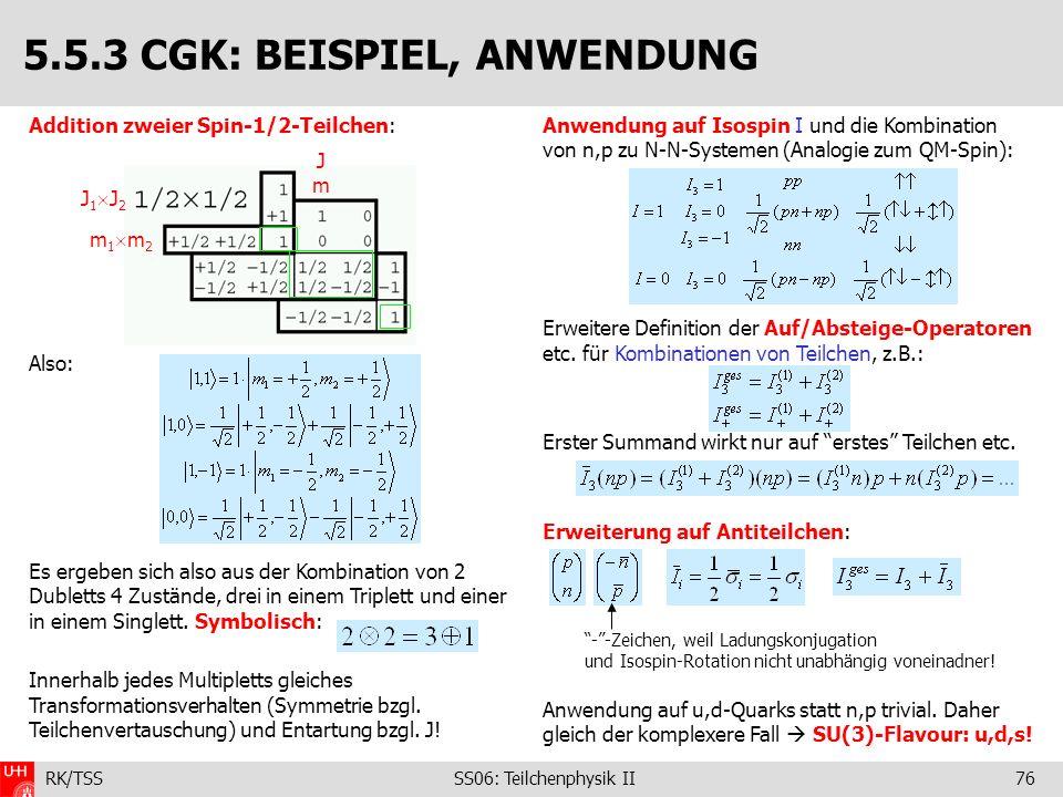 5.5.3 CGK: BEISPIEL, ANWENDUNG
