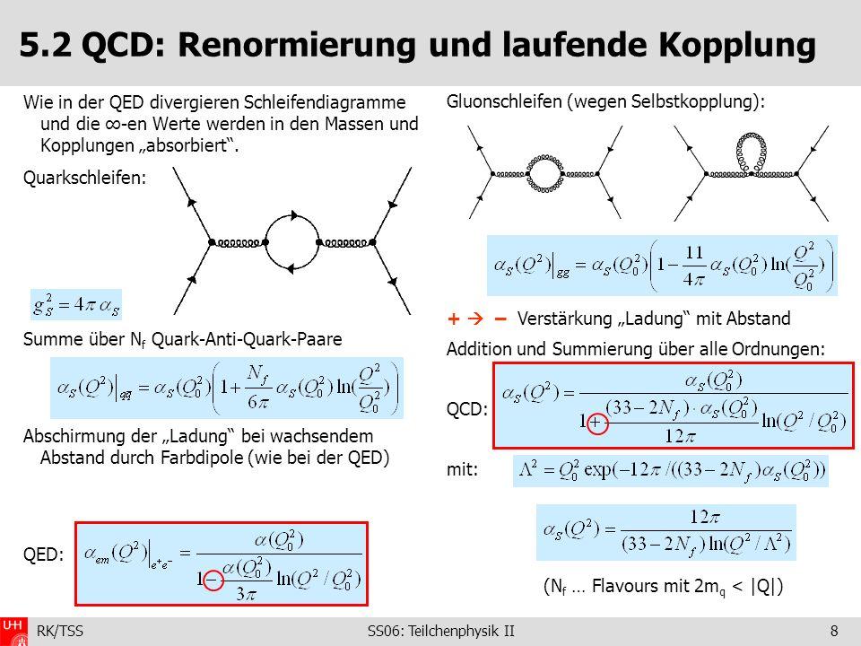 5.2 QCD: Renormierung und laufende Kopplung