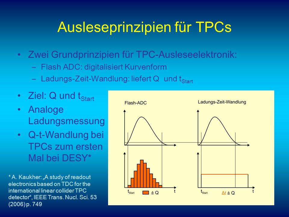 Ausleseprinzipien für TPCs