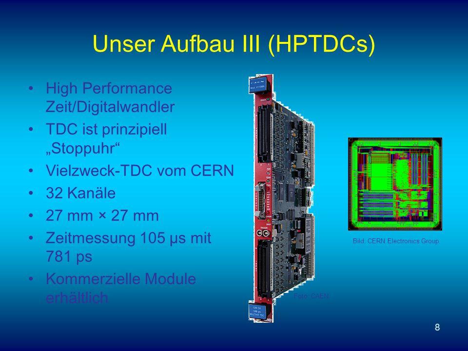 Unser Aufbau III (HPTDCs)