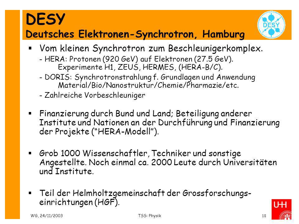 DESY Deutsches Elektronen-Synchrotron, Hamburg