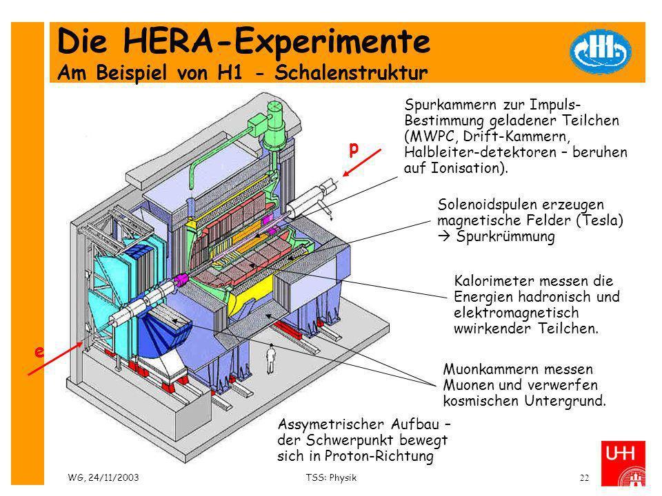 Die HERA-Experimente Am Beispiel von H1 - Schalenstruktur