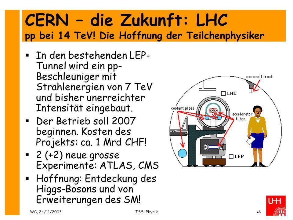 CERN – die Zukunft: LHC pp bei 14 TeV