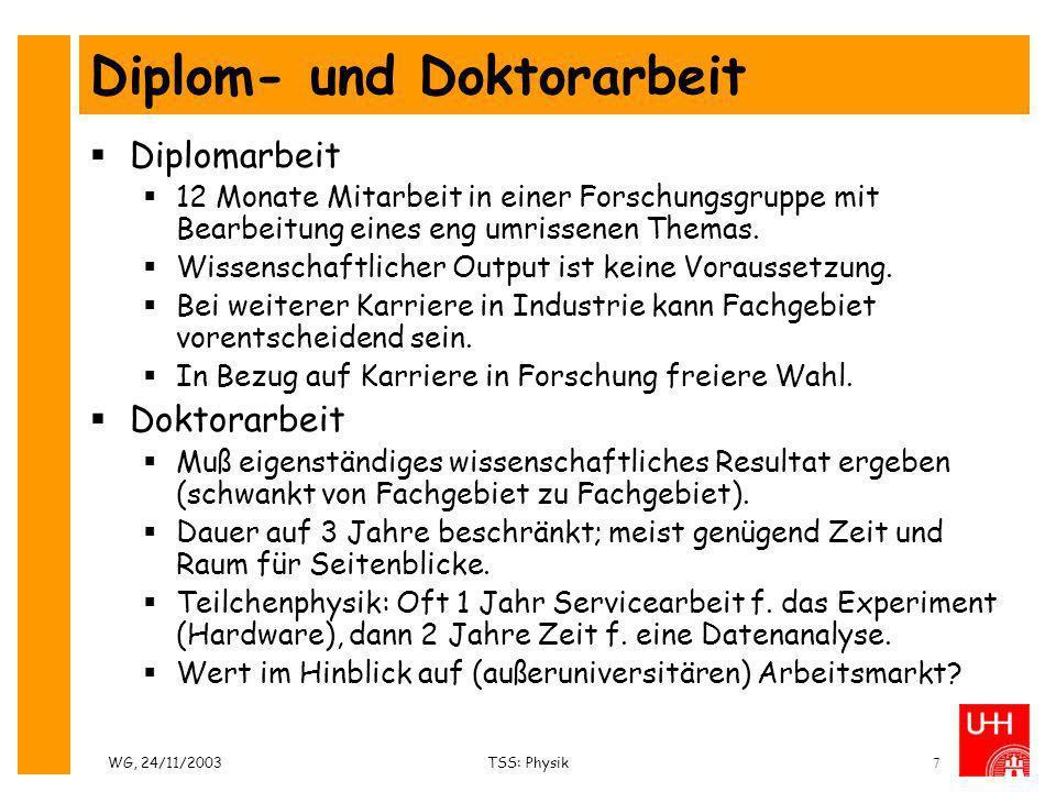 Diplom- und Doktorarbeit