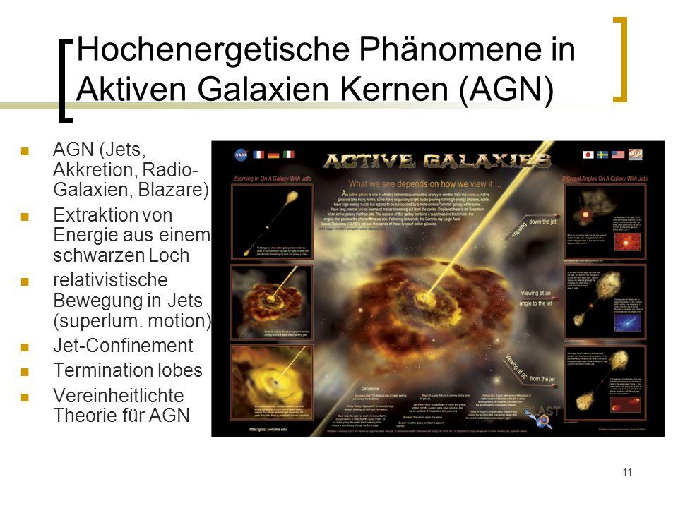Hochenergetische Phänomene in Aktiven Galaxien Kernen (AGN)