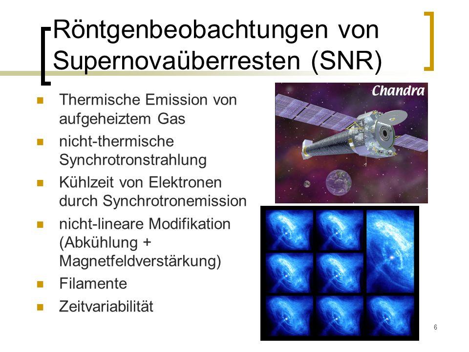 Röntgenbeobachtungen von Supernovaüberresten (SNR)
