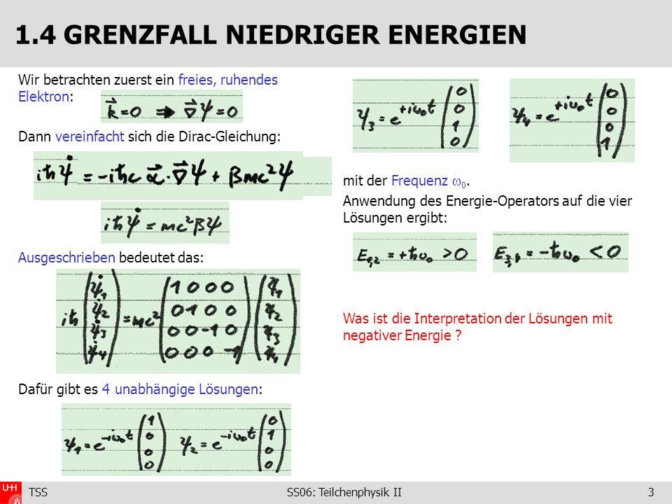 1.4 GRENZFALL NIEDRIGER ENERGIEN