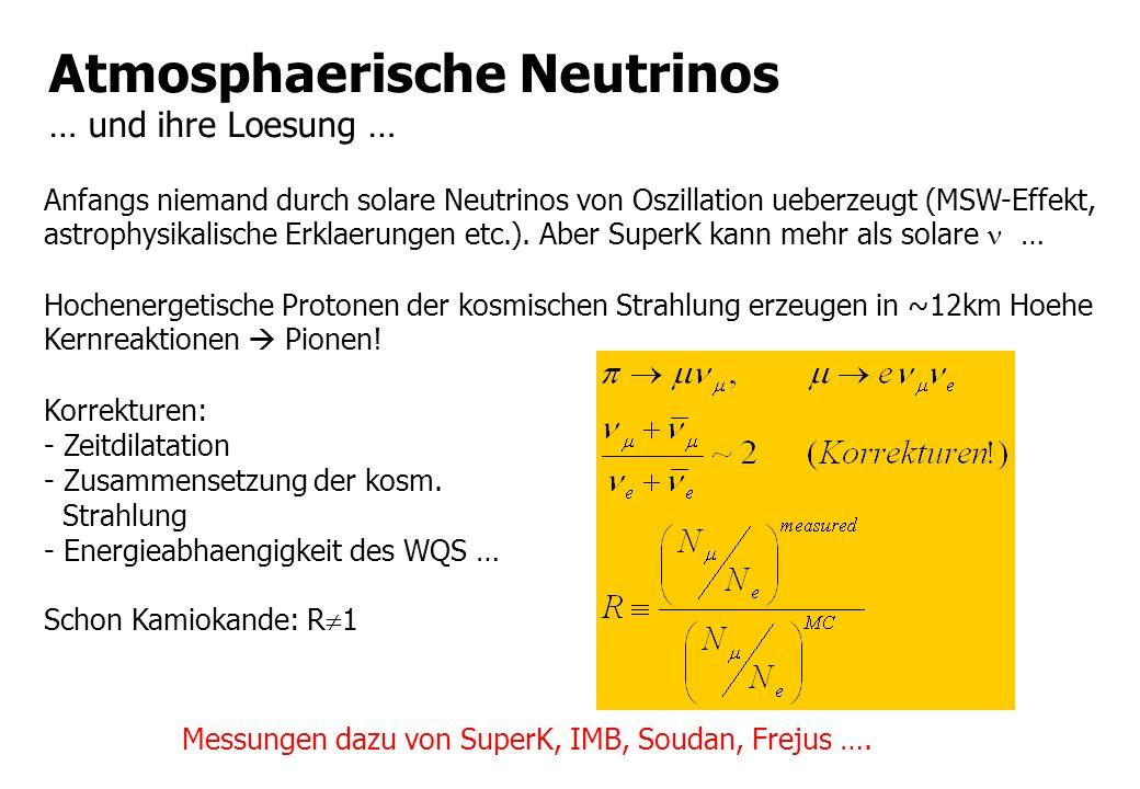 Atmosphaerische Neutrinos … und ihre Loesung …