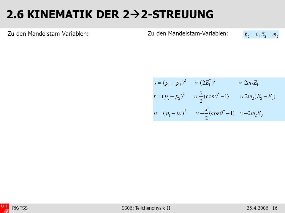 2.6 KINEMATIK DER 22-STREUUNG