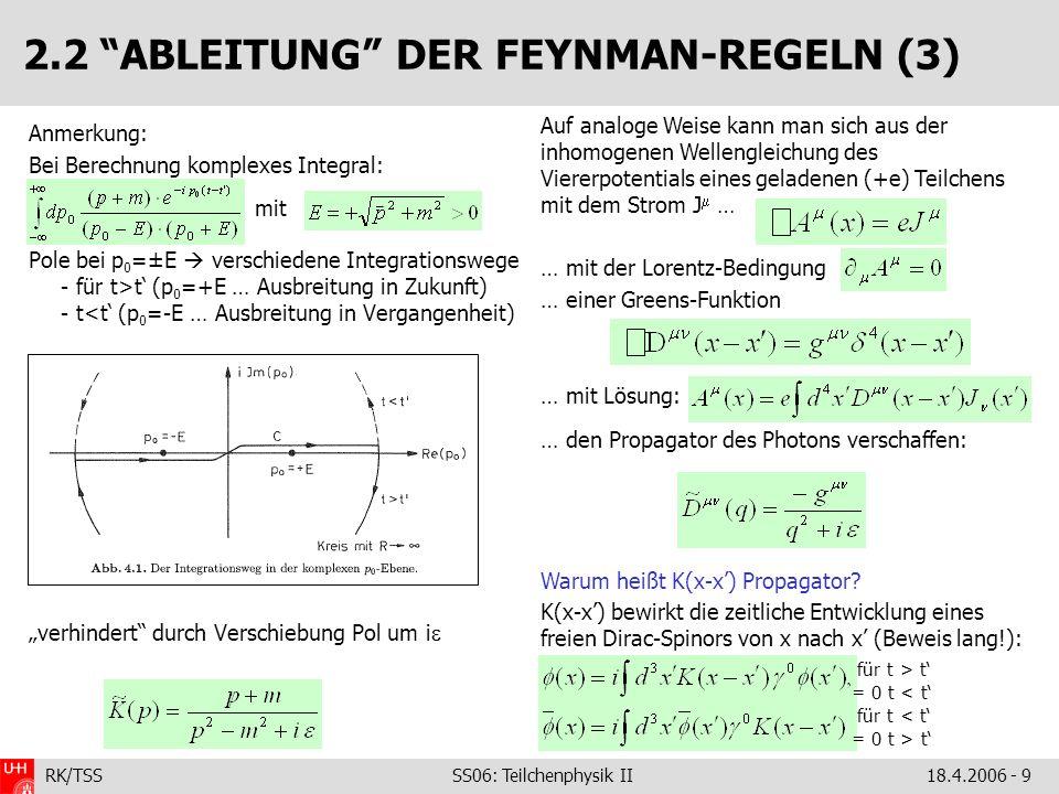 2.2 ABLEITUNG DER FEYNMAN-REGELN (3)