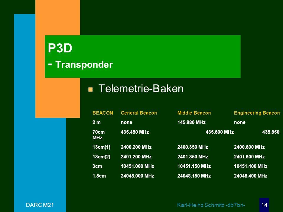 P3D - Transponder Telemetrie-Baken DARC M21 Karl-Heinz Schmitz -db7bn-
