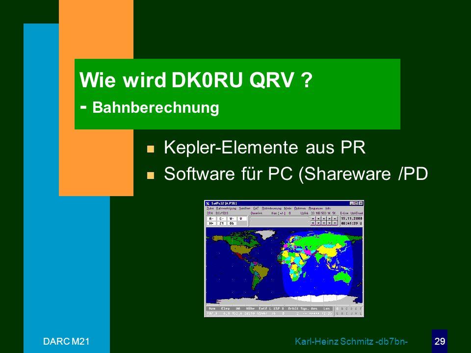 Wie wird DK0RU QRV - Bahnberechnung