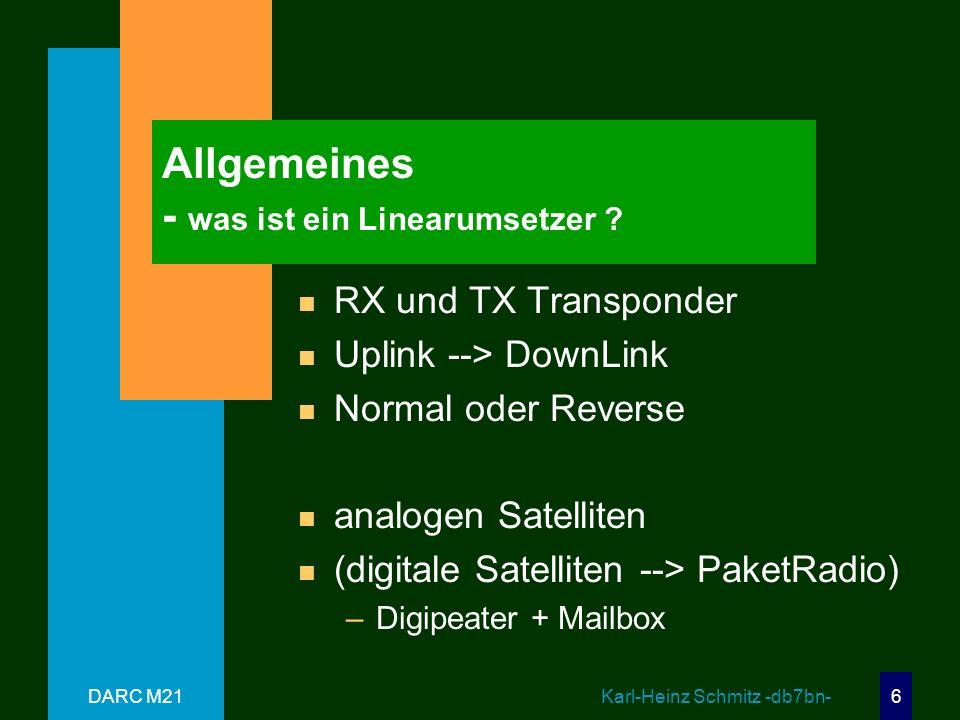 Allgemeines - was ist ein Linearumsetzer