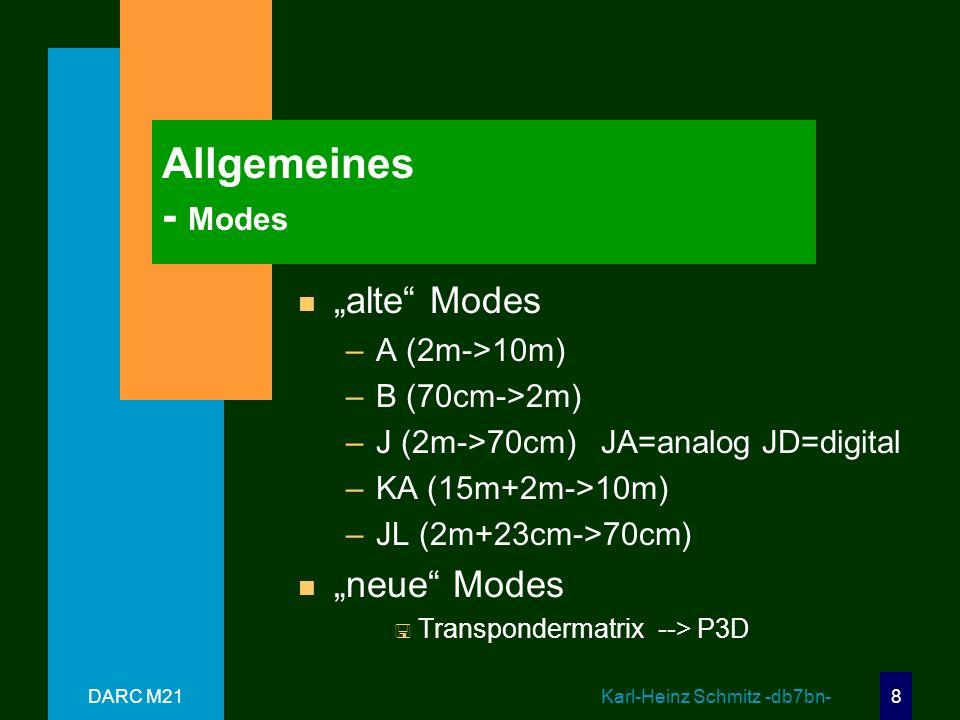 """Allgemeines - Modes """"alte Modes """"neue Modes A (2m->10m)"""