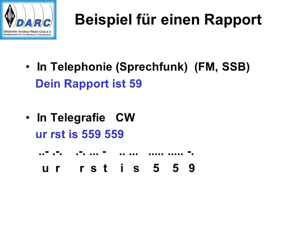 Beispiel für einen Rapport