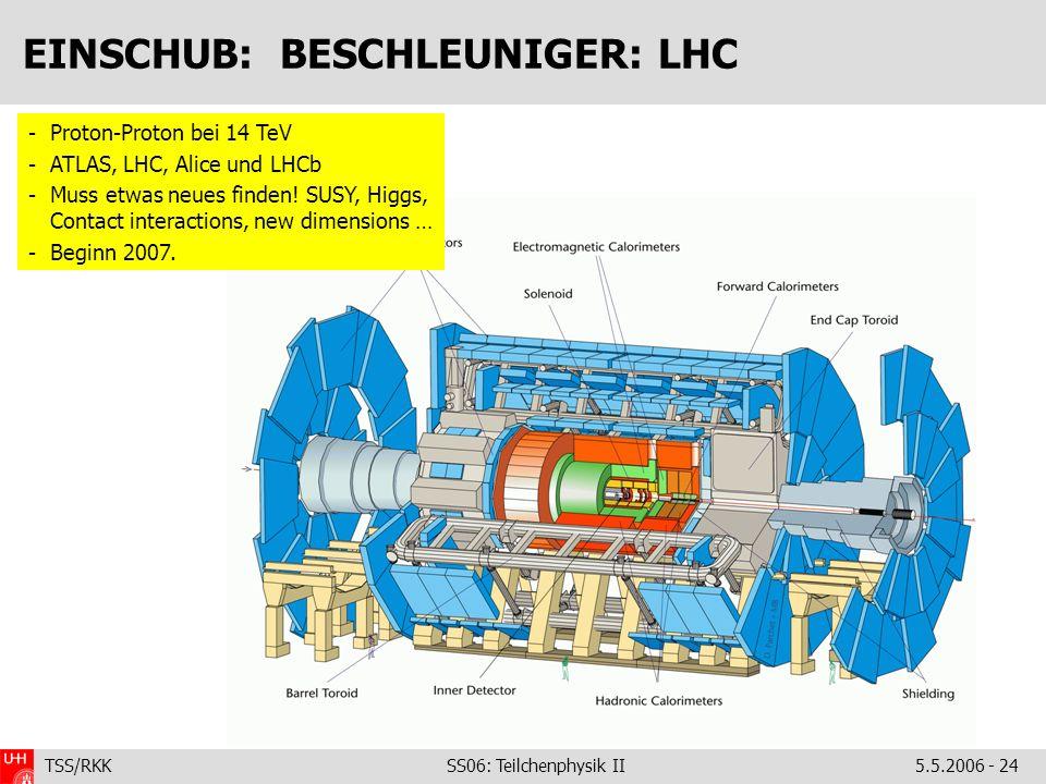 EINSCHUB: BESCHLEUNIGER: LHC