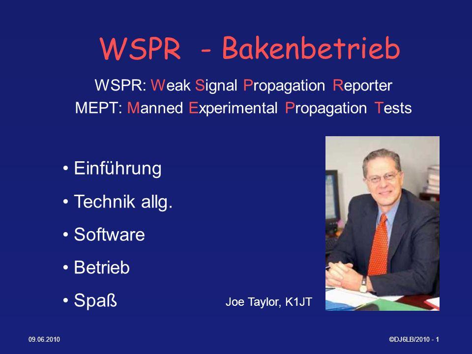 WSPR - Bakenbetrieb Einführung Technik allg. Software Betrieb Spaß
