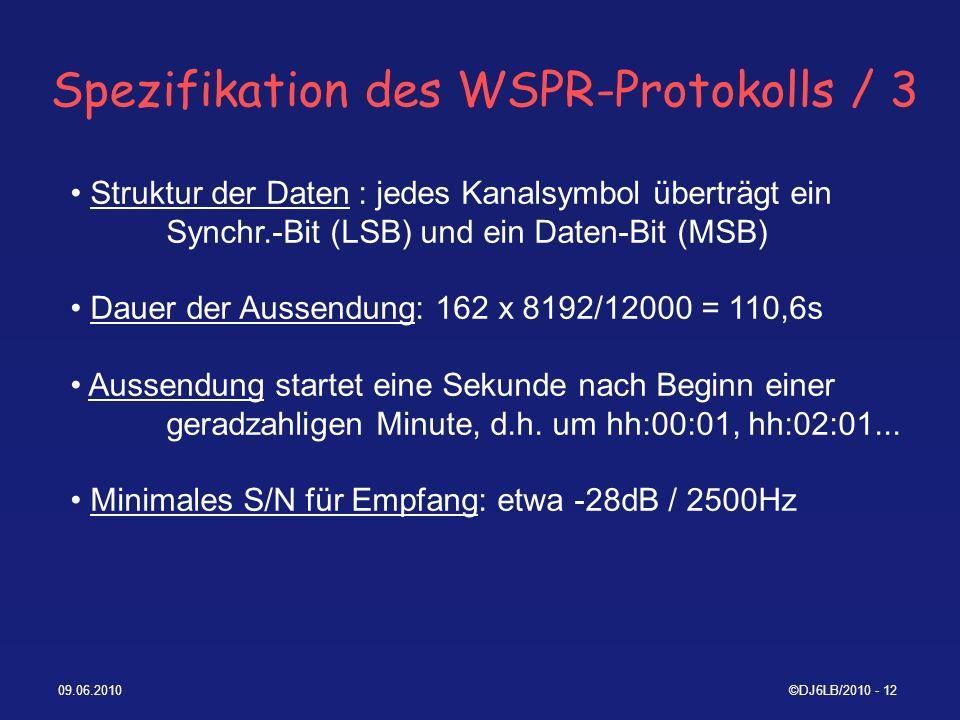 Spezifikation des WSPR-Protokolls / 3
