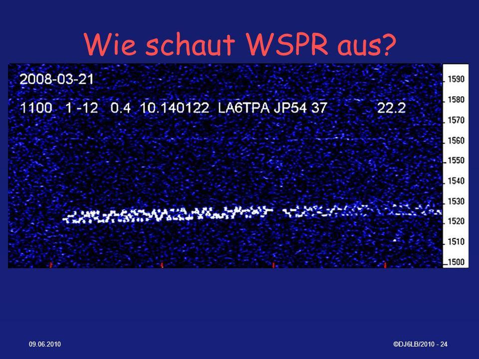 Wie schaut WSPR aus 09.06.2010 ©DJ6LB/2010 - 24