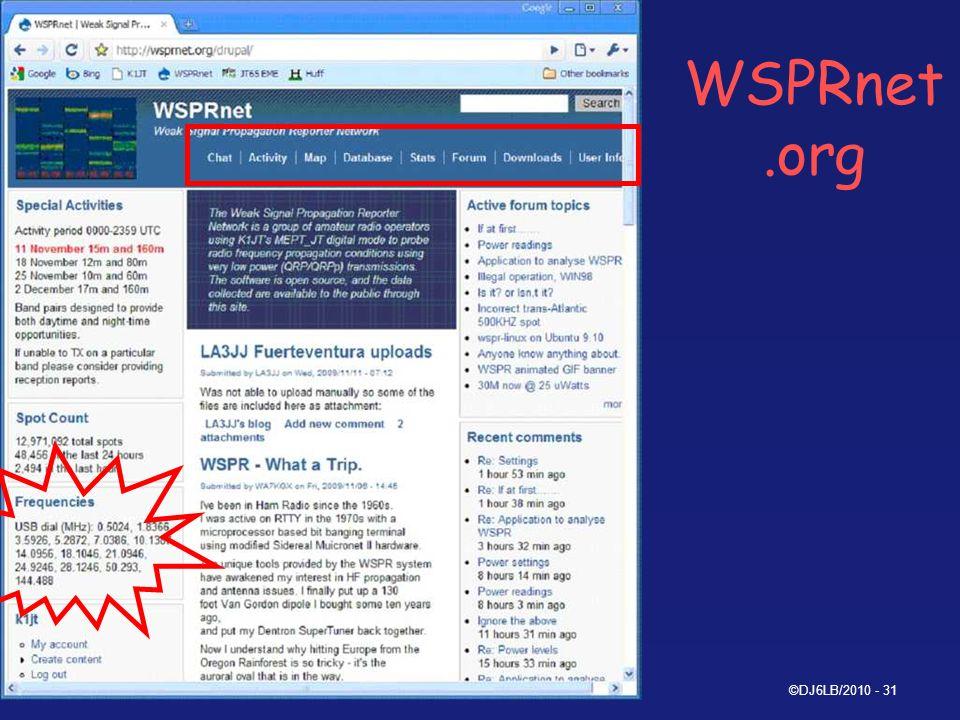 WSPRnet.org 09.06.2010 ©DJ6LB/2010 - 31