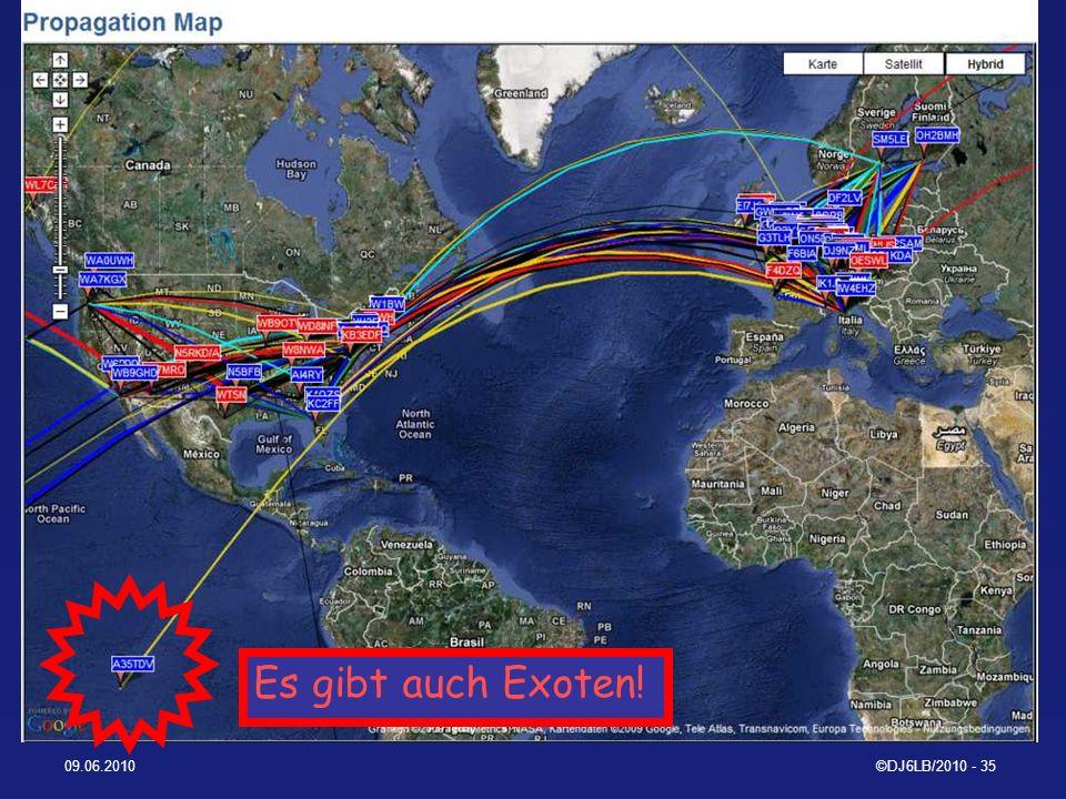 WSPRnet World Map Es gibt auch Exoten! 09.06.2010 ©DJ6LB/2010 - 35
