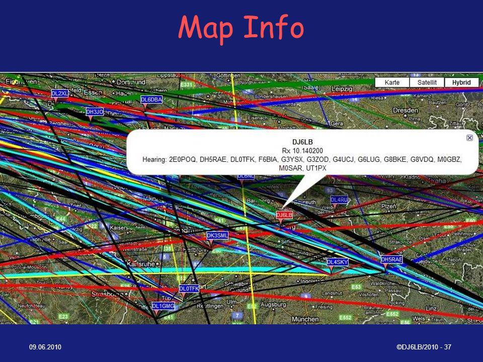 Map Info 09.06.2010 ©DJ6LB/2010 - 37