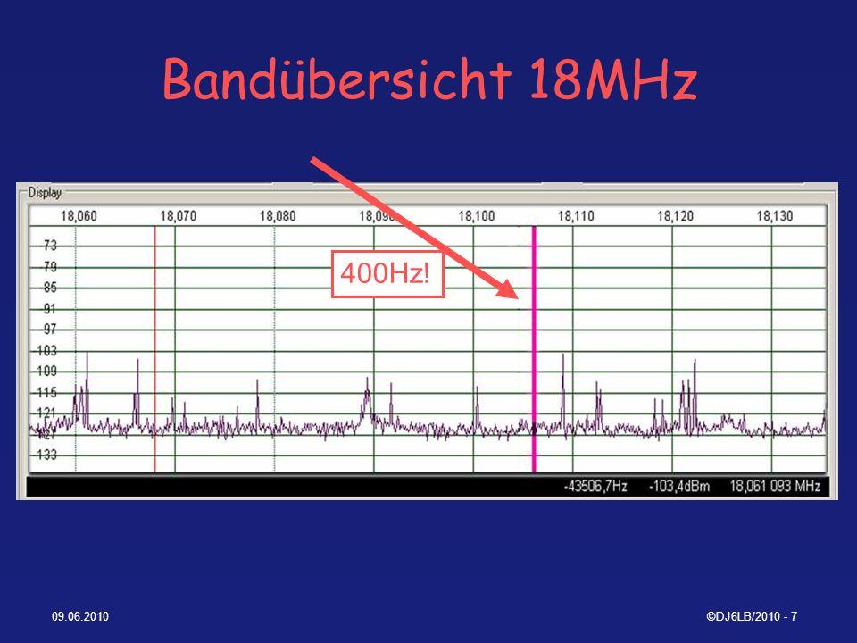Bandübersicht 18MHz 400Hz! 09.06.2010 ©DJ6LB/2010 - 7