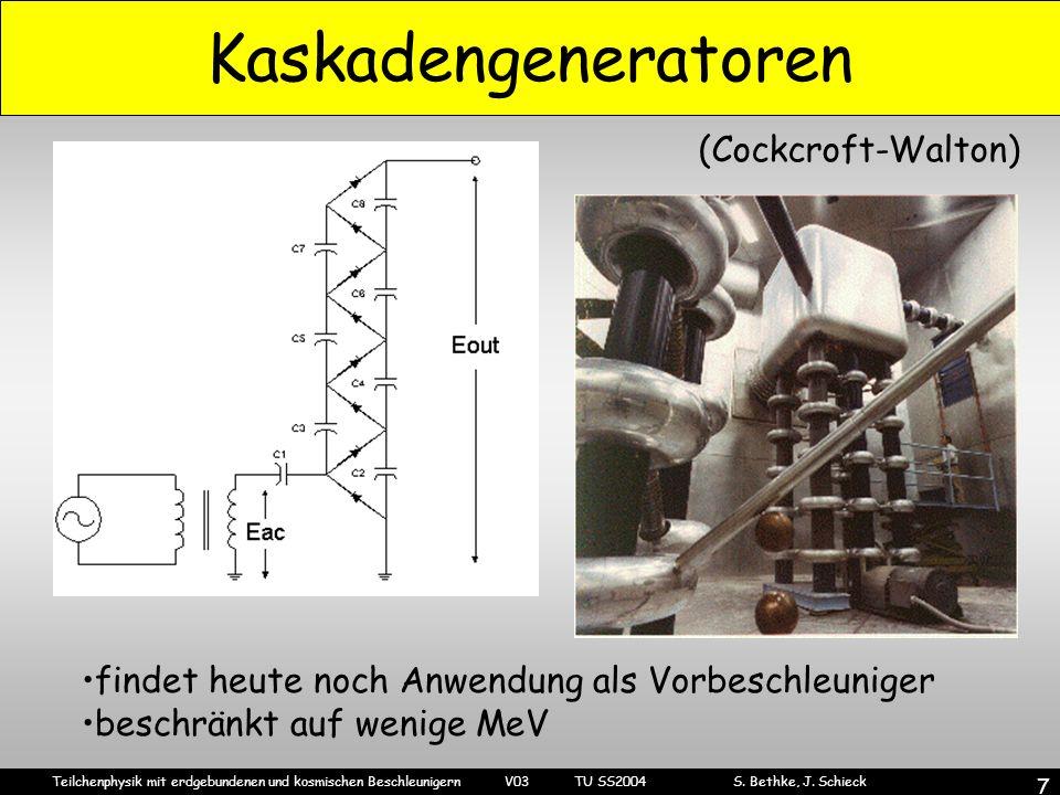 Kaskadengeneratoren (Cockcroft-Walton)