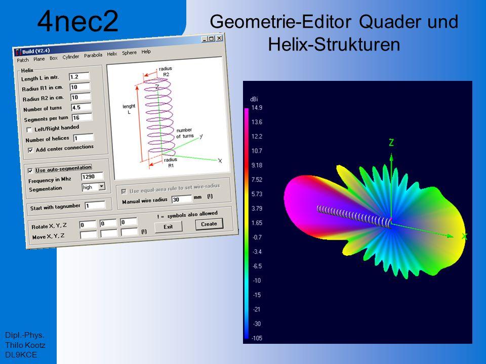 Geometrie-Editor Quader und Helix-Strukturen