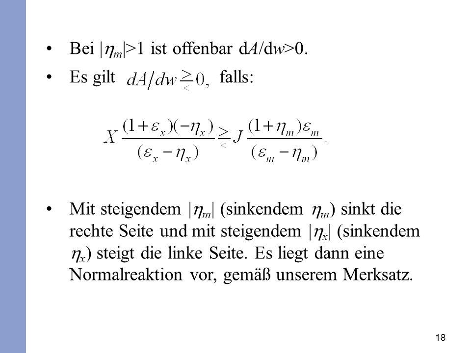 Bei |hm|>1 ist offenbar dA/dw>0.