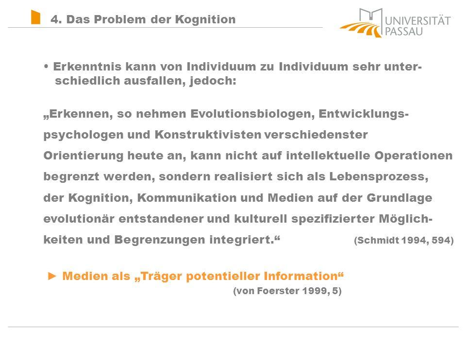 4. Das Problem der Kognition