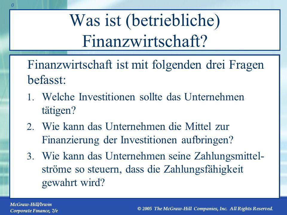 Was ist (betriebliche) Finanzwirtschaft