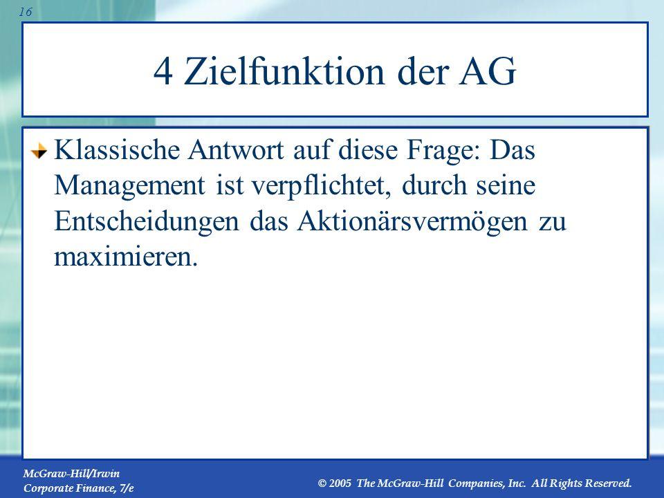 4 Zielfunktion der AG