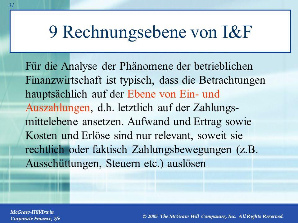 9 Rechnungsebene von I&F