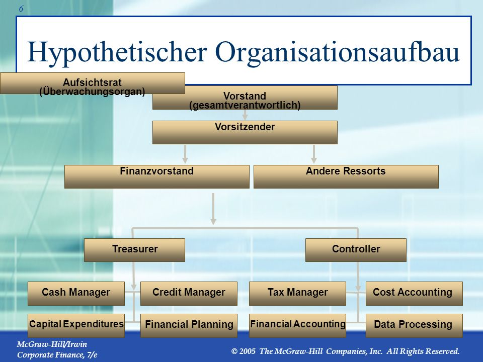 Hypothetischer Organisationsaufbau