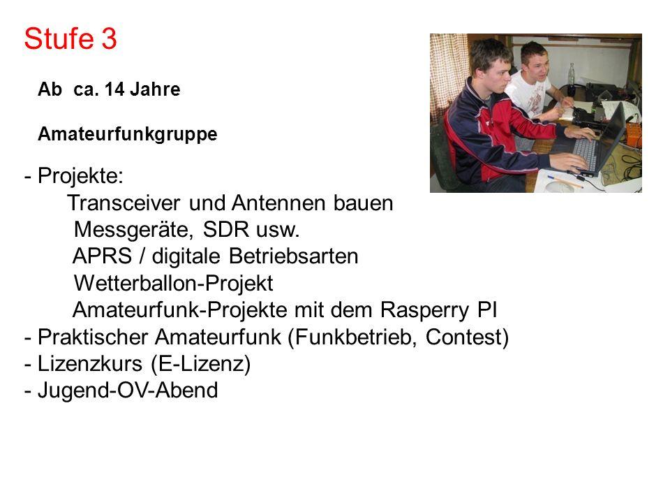 Stufe 3 - Projekte: Transceiver und Antennen bauen