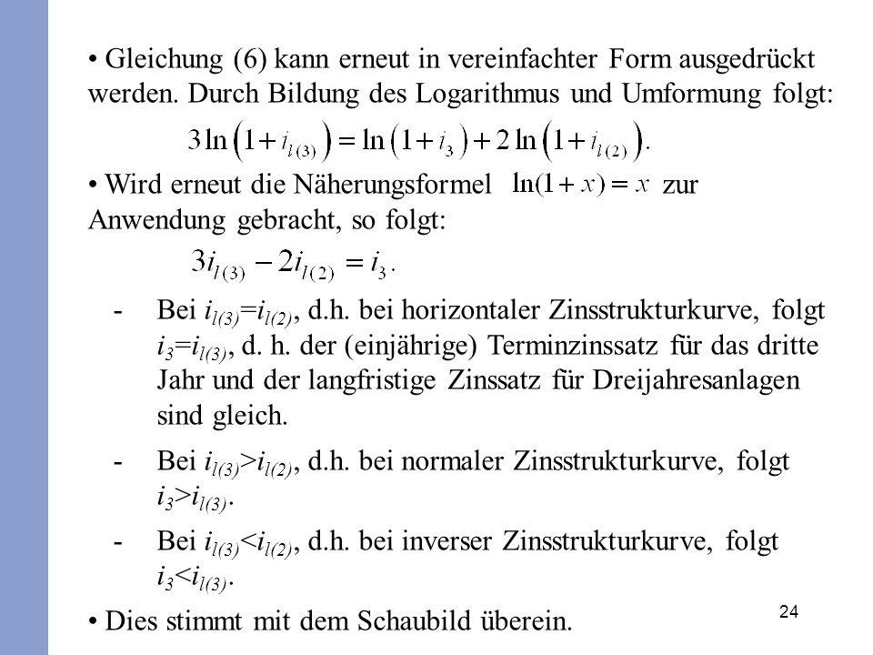 Gleichung (6) kann erneut in vereinfachter Form ausgedrückt werden