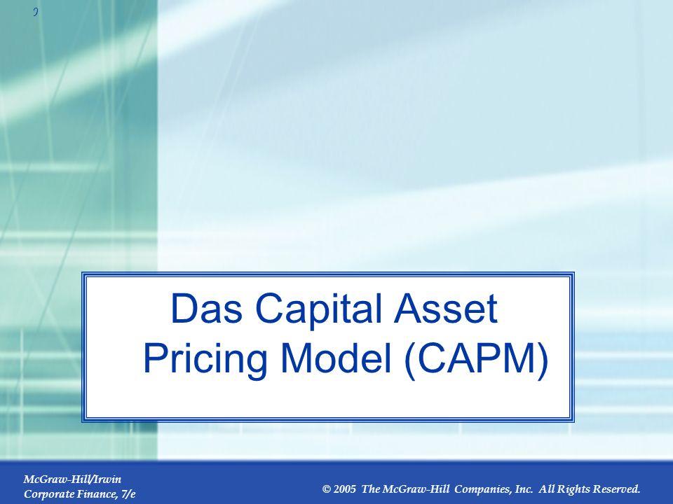Das Capital Asset Pricing Model (CAPM)