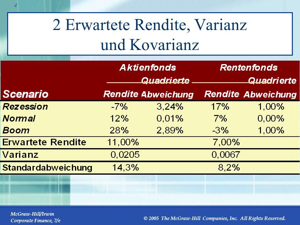 2 Erwartete Rendite, Varianz und Kovarianz