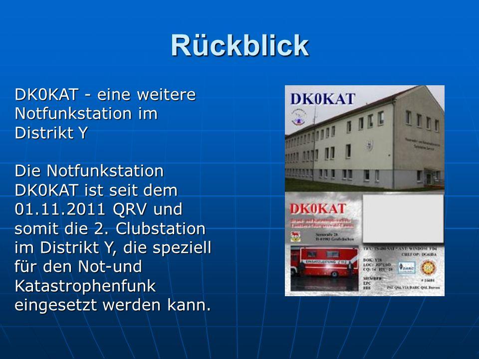 Rückblick DK0KAT - eine weitere Notfunkstation im Distrikt Y