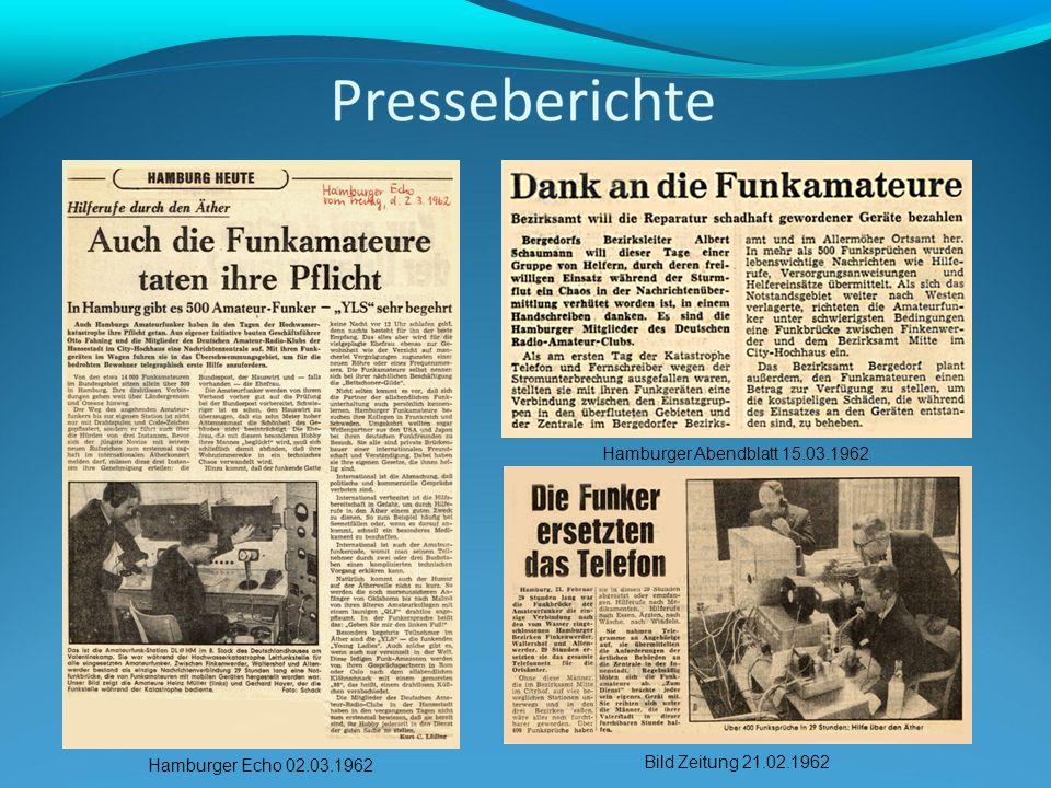Hamburger Abendblatt 15.03.1962 Hamburger Echo 02.03.1962 Bild Zeitung 21.02.1962