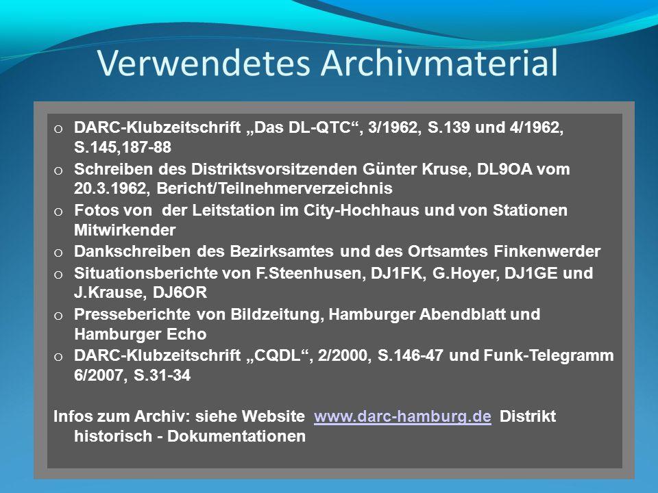 """DARC-Klubzeitschrift """"Das DL-QTC , 3/1962, S. 139 und 4/1962, S"""