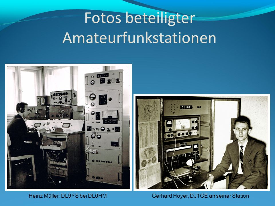 Heinz Müller, DL9YS bei DL0HM Gerhard Hoyer, DJ1GE an seiner Station