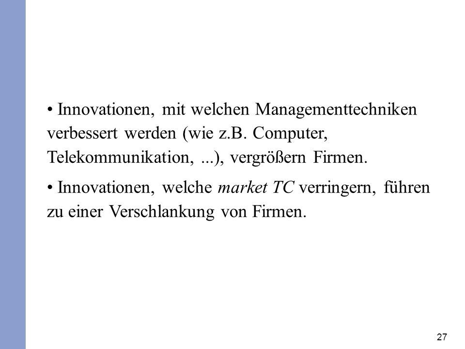 Innovationen, mit welchen Managementtechniken verbessert werden (wie z