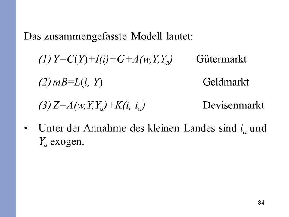 Das zusammengefasste Modell lautet: