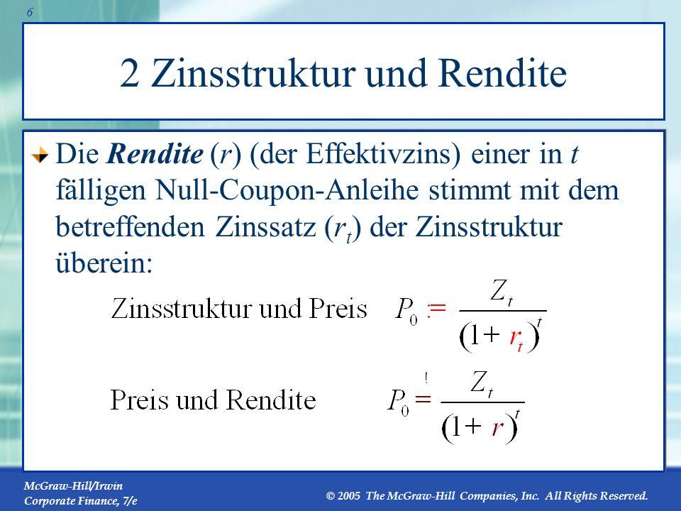 2 Zinsstruktur und Rendite